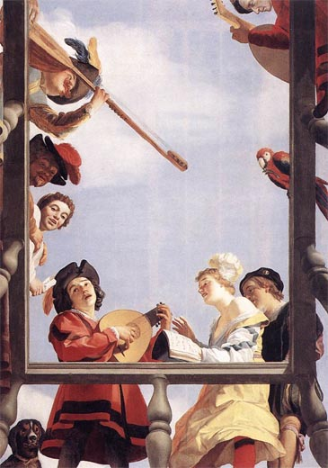 Gerrit van Honthorst: Musical Group on a Balcony